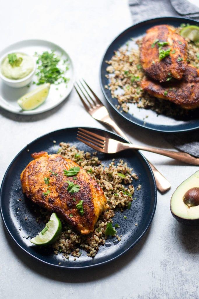 Blackened Chicken and Cilantro Lime Quinoa   Sarcastic Cooking