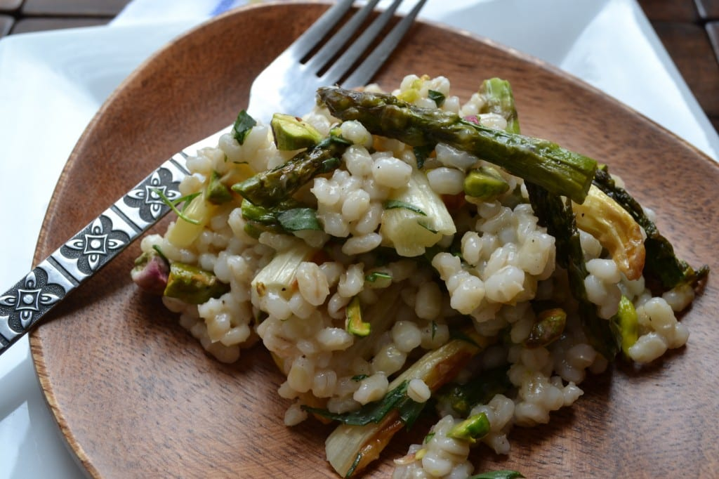 Asparagus And Barley Pilaf