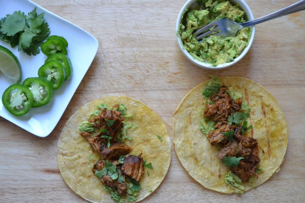 Slow-cooked Adobo Pork Tacos