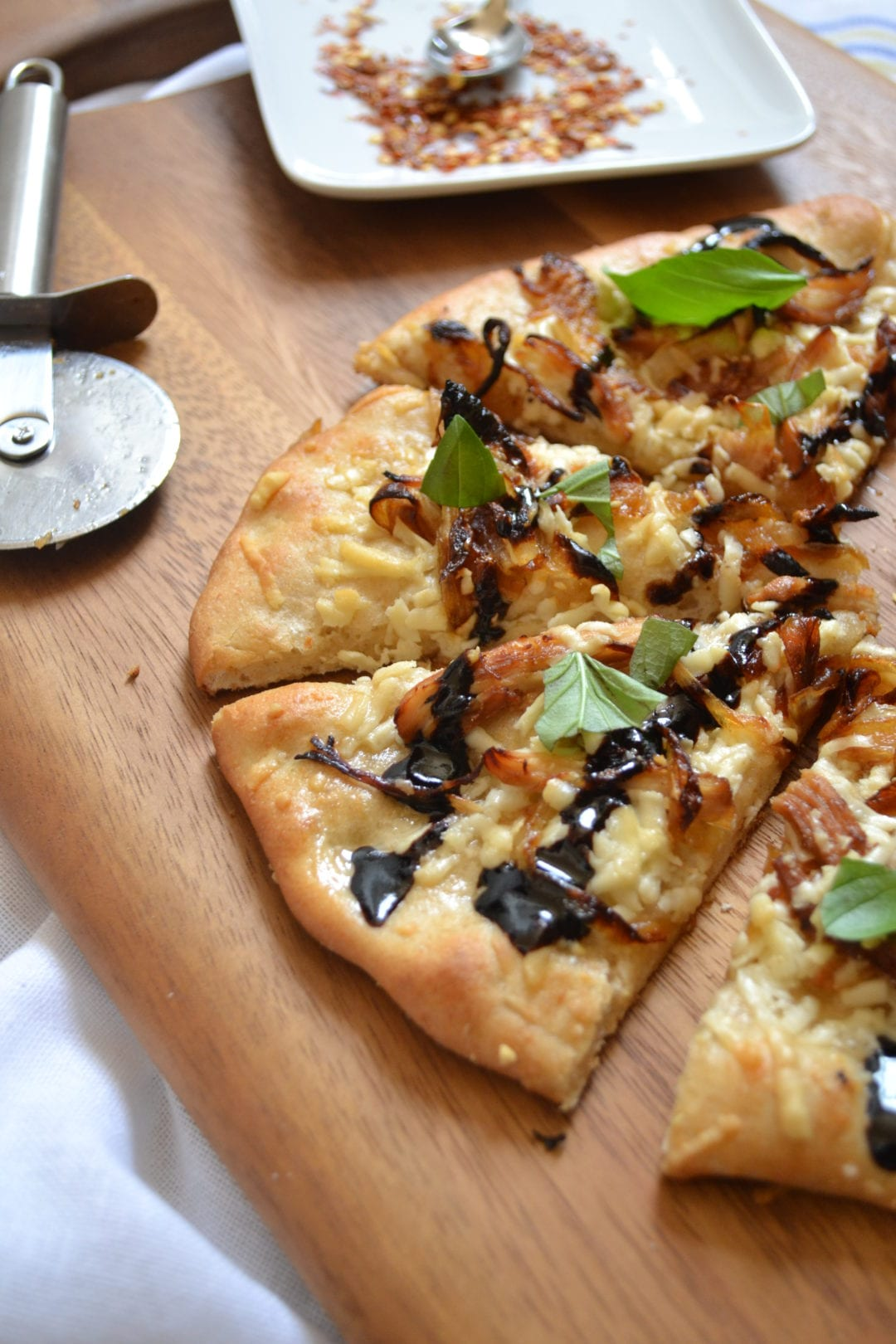 Balsamic Glazed Chicken And Caramelized Onion Pizza From