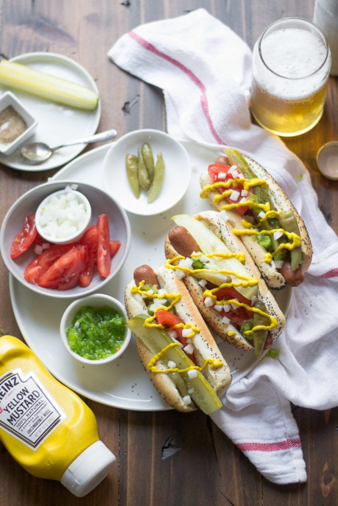 grilled hot dog bar