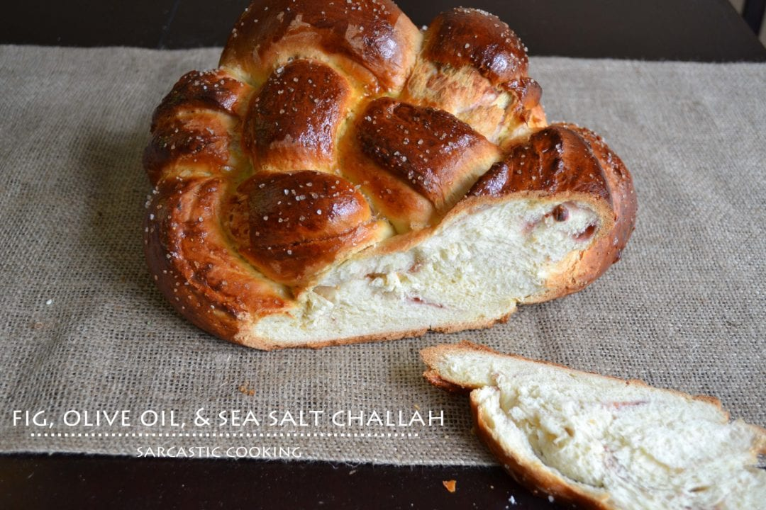 Fig, Olive Oil, & Sea Salt Challah