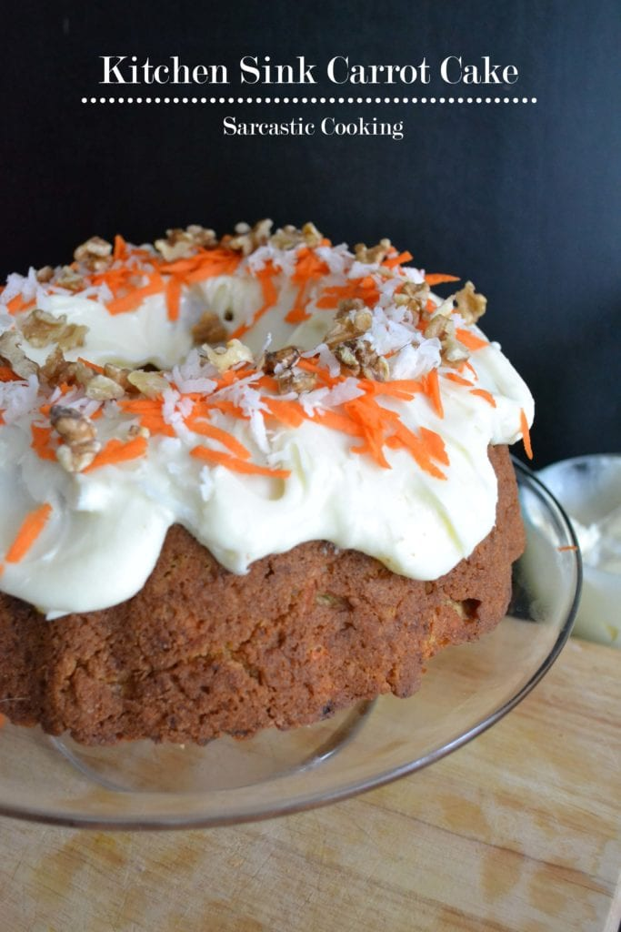 Kitchen Sink Carrot Cake Sarcastic Cooking
