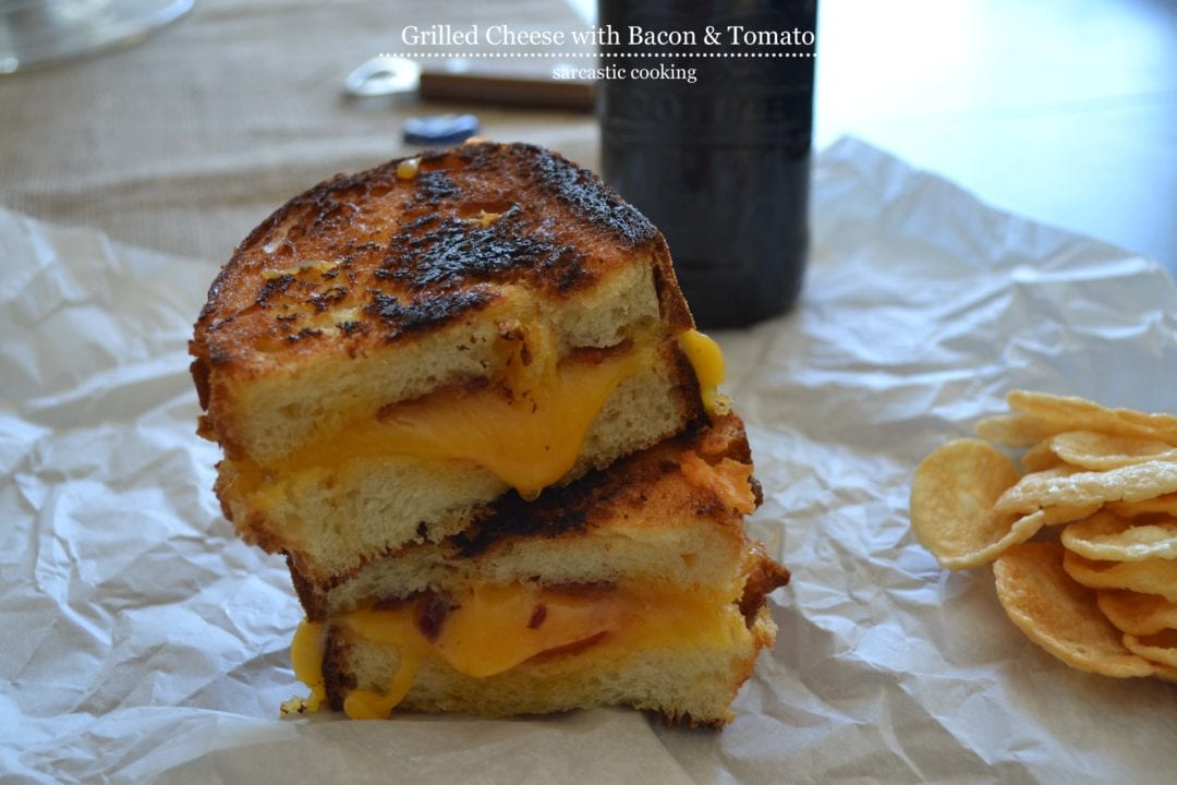 Grilled cheese with bacon tomato for American cuisine definition