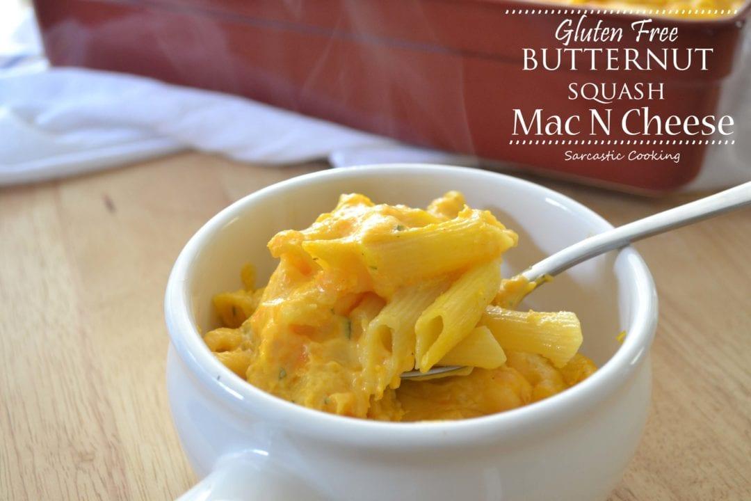 Gluten Free Butternut Squash Mac N Cheese