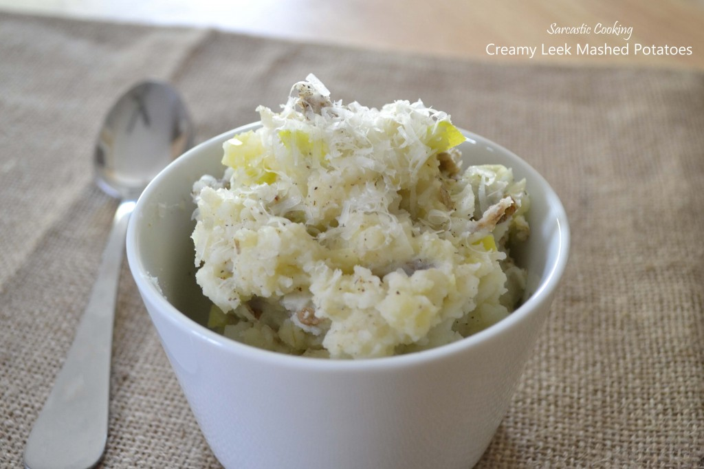 Creamy Leek Mashed Potatoes - Sarcastic Cooking