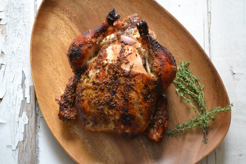 Baked Chicken With Honey-Whole Grain Mustard Glaze Recipe — Dishmaps