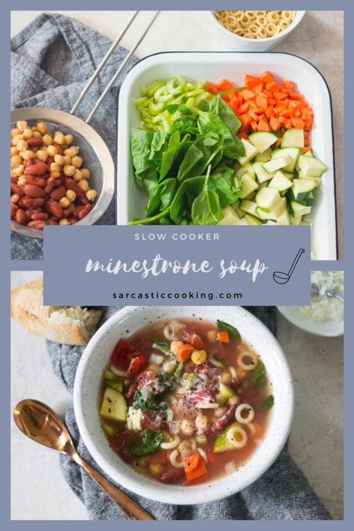 Slow Cooker Minestrone Soup | Sarcastic Cooking