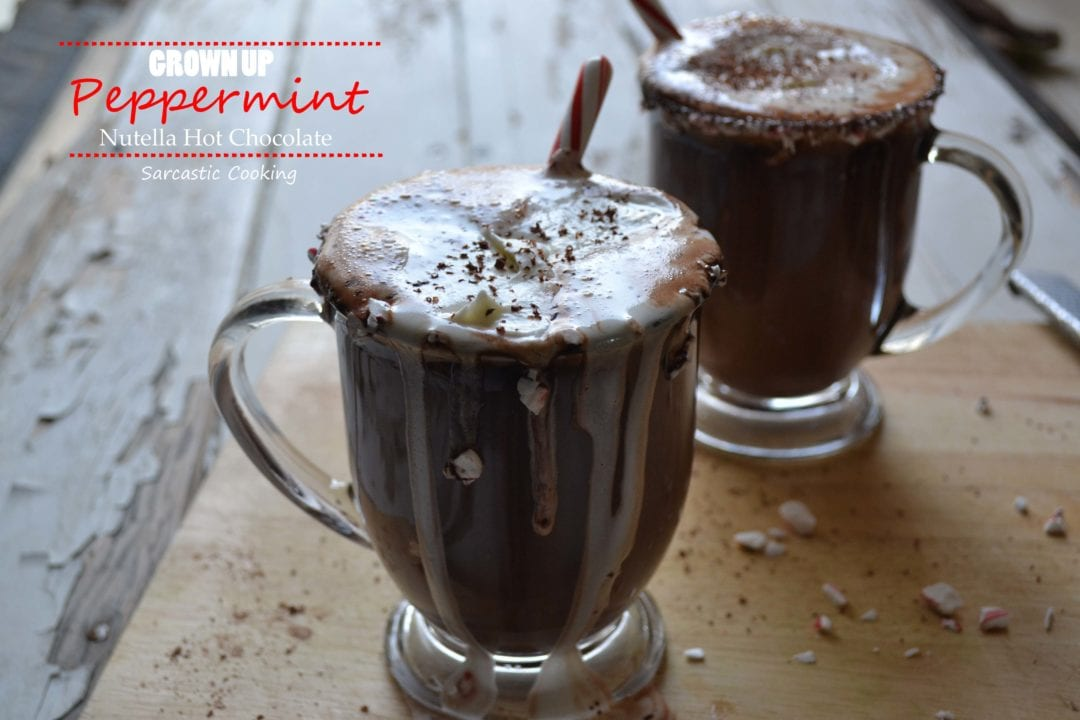 Grown Up Peppermint Nutella Hot Chocolate + A Giveaway