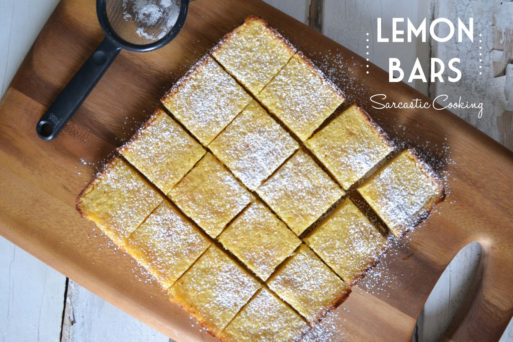 Lemon Bars - Sarcastic Cooking