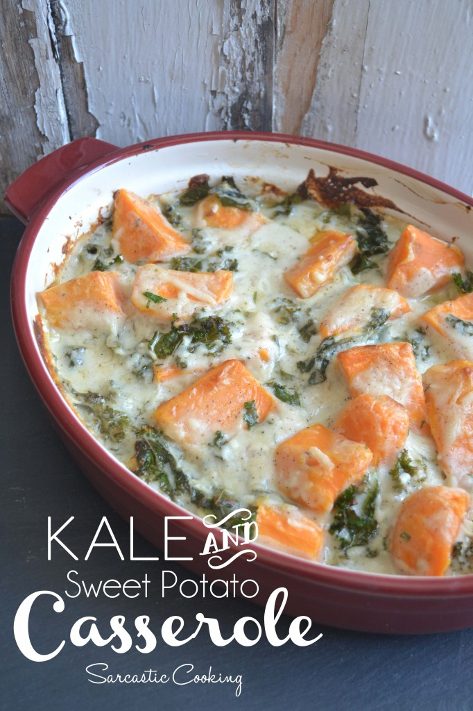 Kale and Sweet Potato Casserole - Sarcastic Cooking