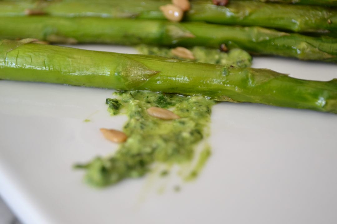 Roasted Asparagus and Sunflower Seeds with Spinach-Walnut ...