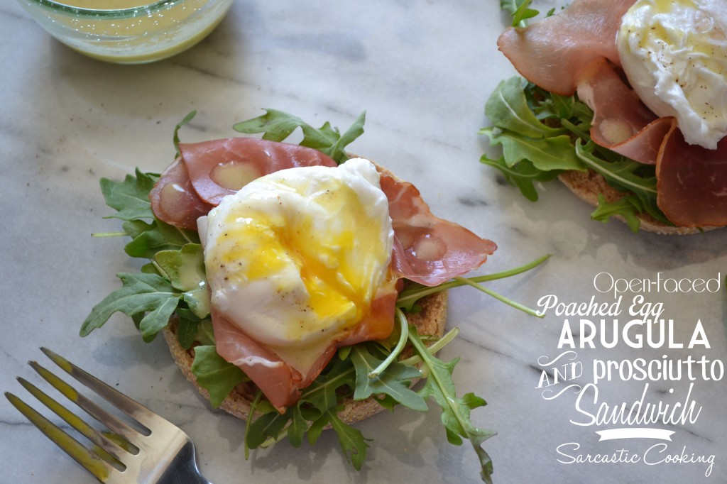 Egg And Prosciutto Open-Faced Sandwich With Tapenade Recipe ...