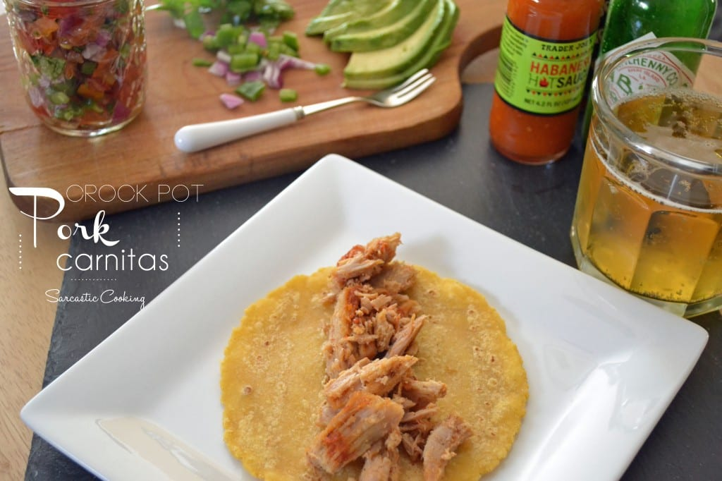 Crock Pot Pork Carnitas - Sarcastic Cooking