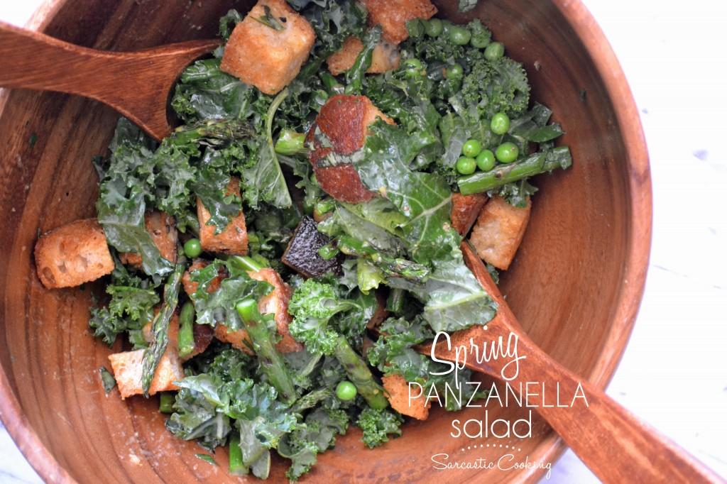 Spring Panzanella Salad - Sarcastic Cooking