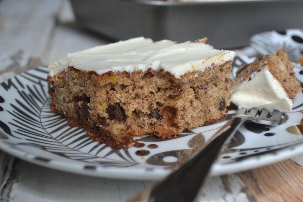 Banana Oatmeal Chocolate Chip Cake | Sarcastic Cooking