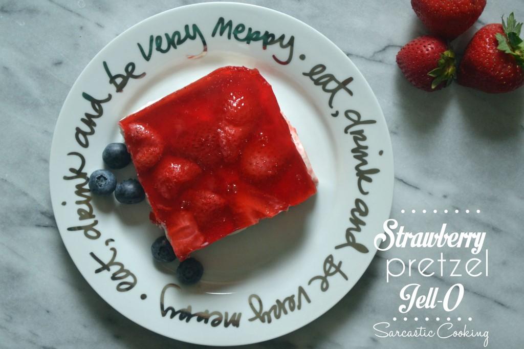 Strawberry Pretzel Jell-O // Sarcastic Cooking