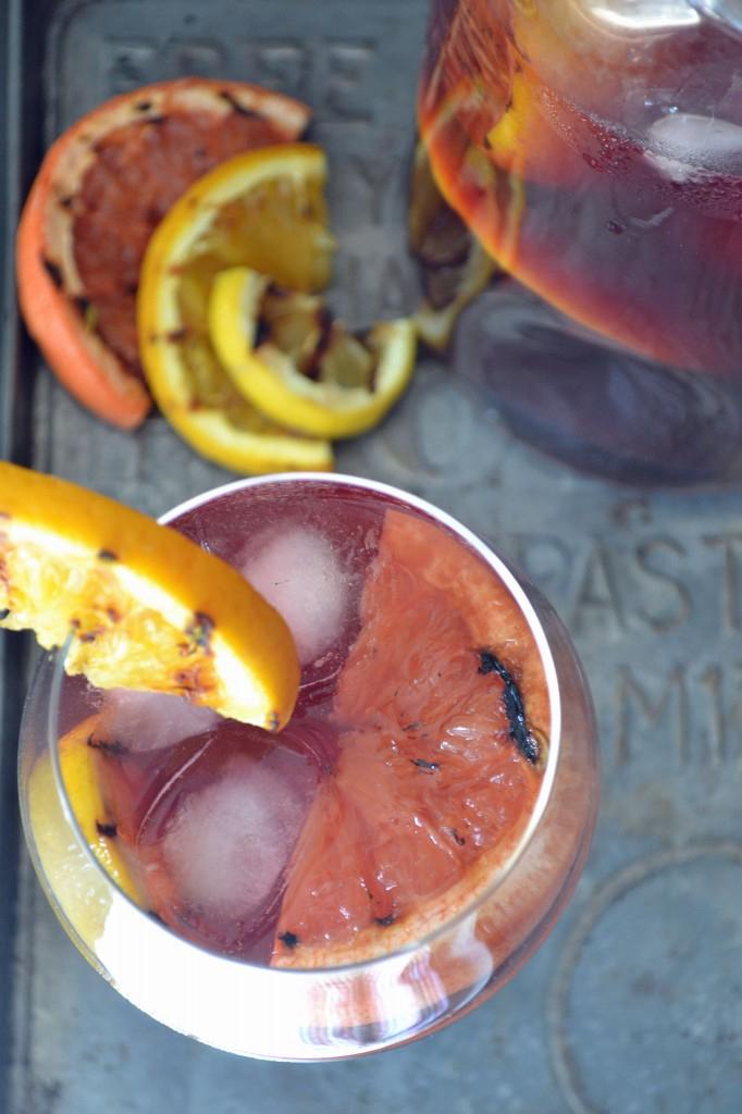 Grilled Citrus Sangria - Sarcastic Cooking