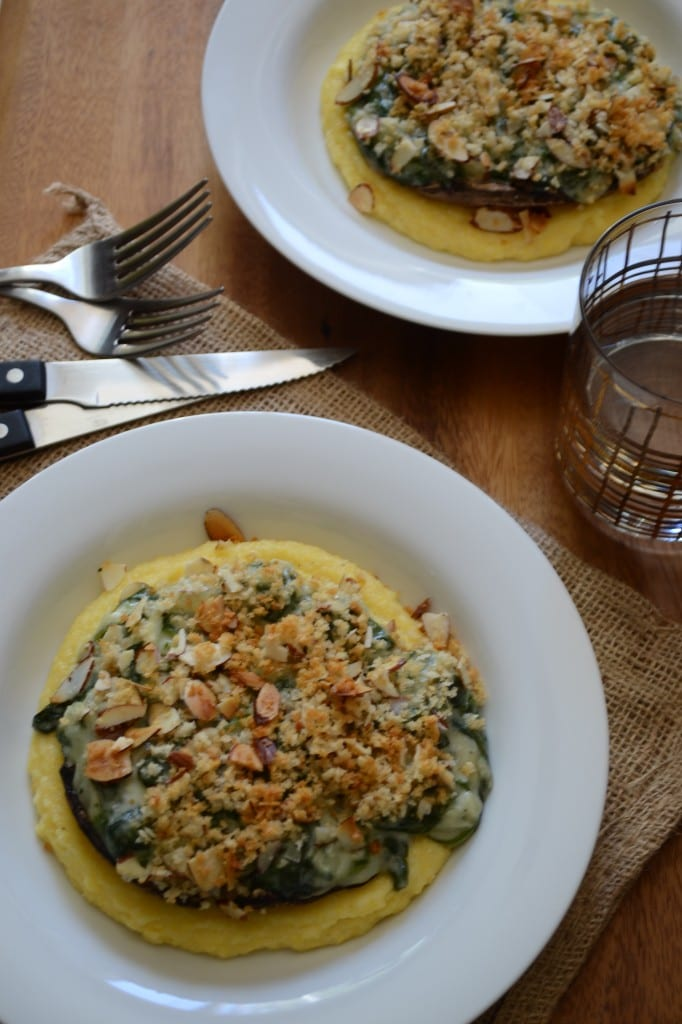 Creamy Spinach Stuffed Portabella Mushrooms | sarcastic cooking