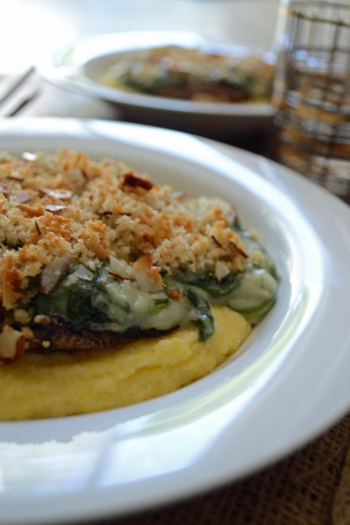 Creamy Spinach Stuffed Portabella Mushrooms