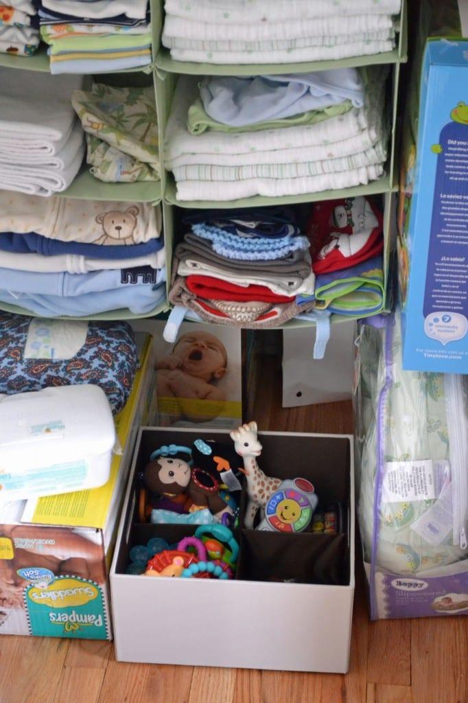 Baby Room Closet Organization