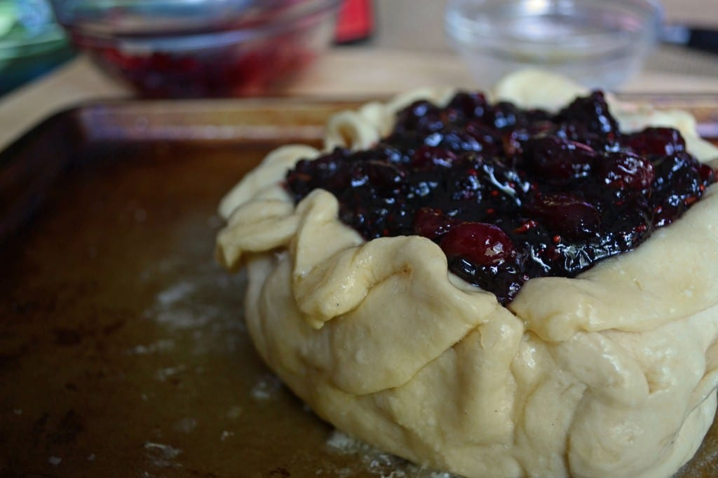 Top with cranberry sauce
