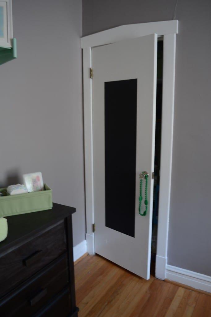 Chalkboard Closet Door Nursery