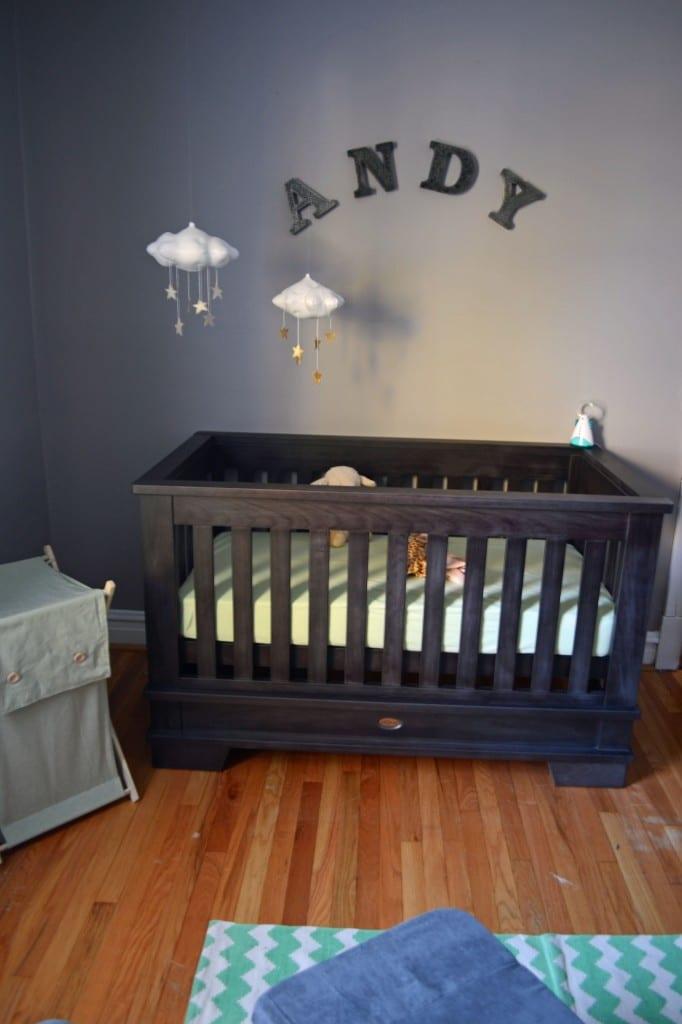 Nursery Crib and Mobile