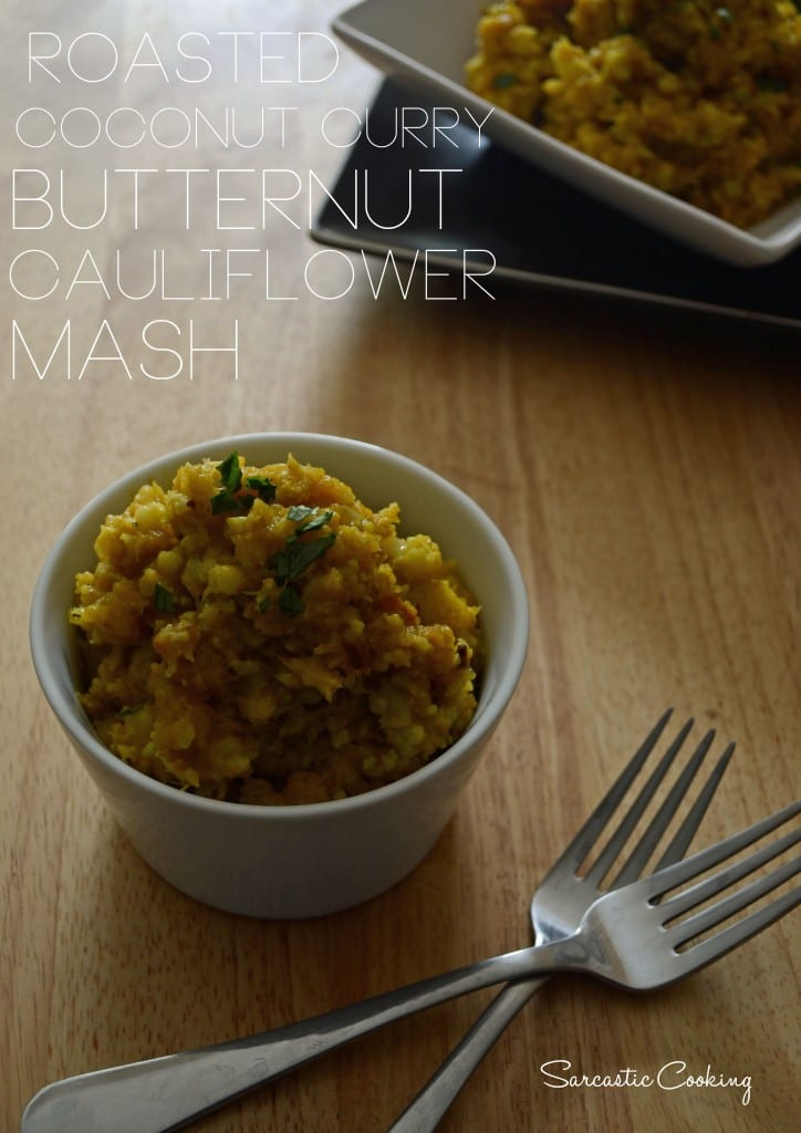 Roasted Coconut Curry Butternit Cauliflower Mash