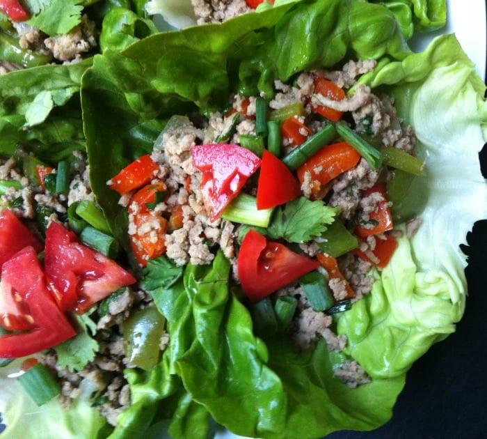 Thai Turkey Lettuce Wraps 2