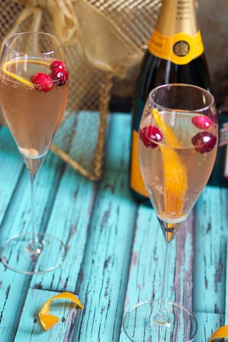 Cranberry Orange Champagne Cocktail-4