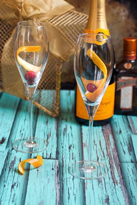 Cranberry Orange Champagne Cocktail