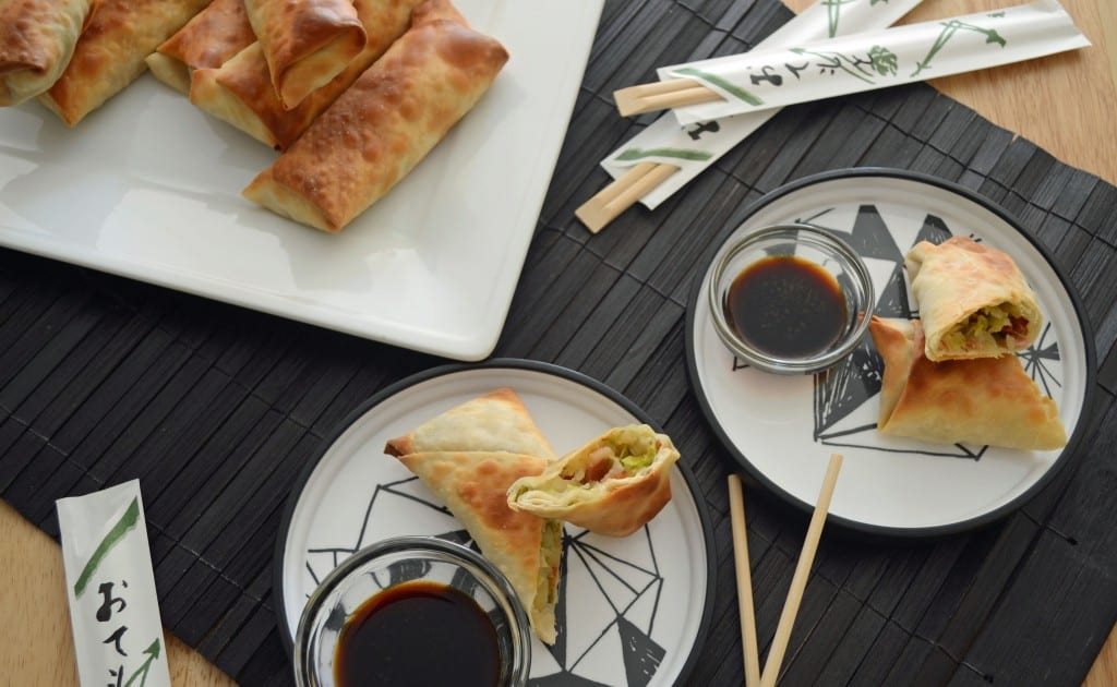Baked Apple, Brussels Sprouts, Fennel, and Bacon Eggrolls