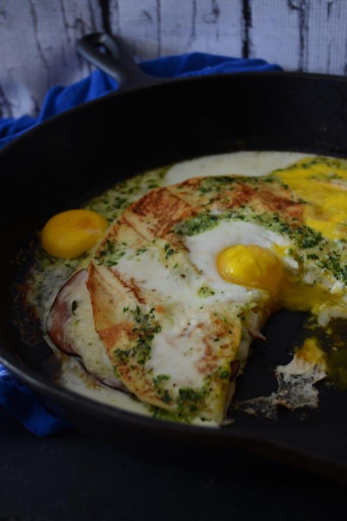 Spanish Ham and Egg Quesadilla - Sarcastic Cooking