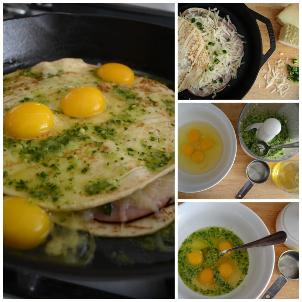 Spanish Ham and Egg Collage