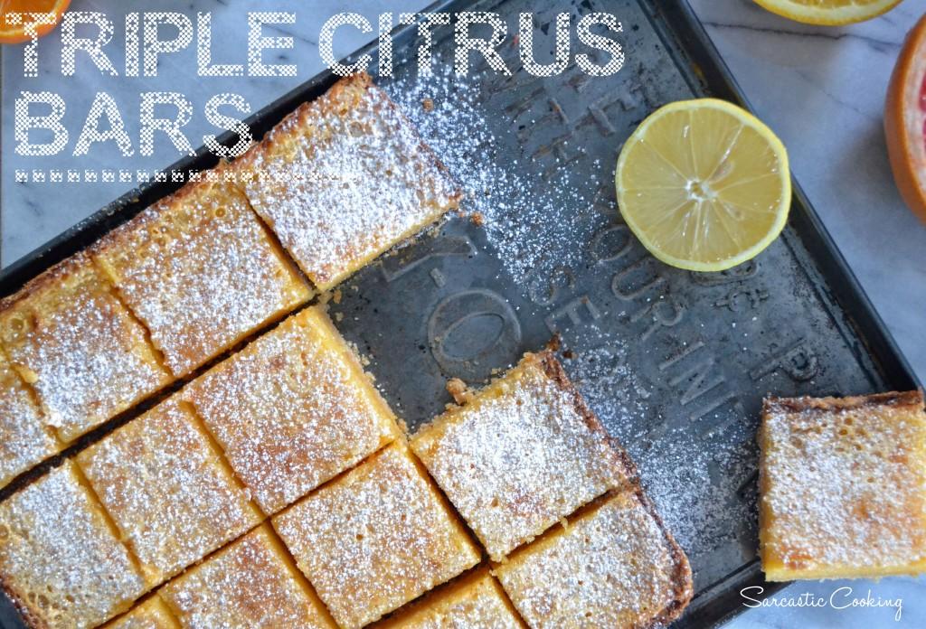 Triple Citrus Bars | Sarcastic Cooking