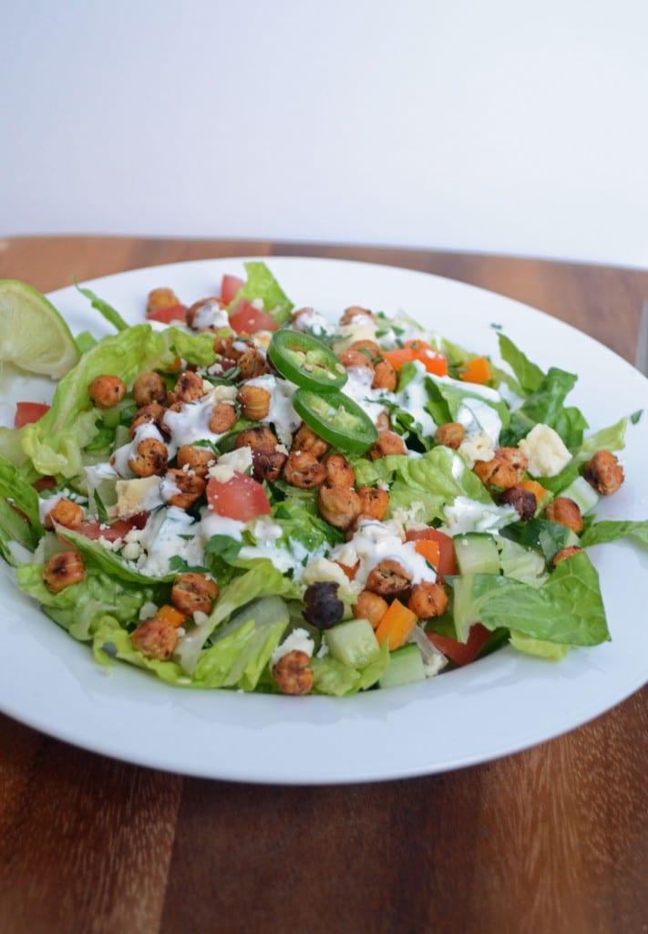 Buffalo Chickpea Chopped Salad   Sarcastic Cooking
