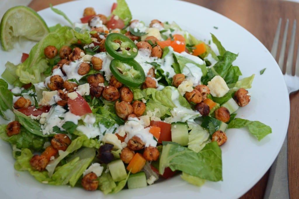 Roasted Buffalo Chickpea Chopped Salad   Sarcastic Cooking