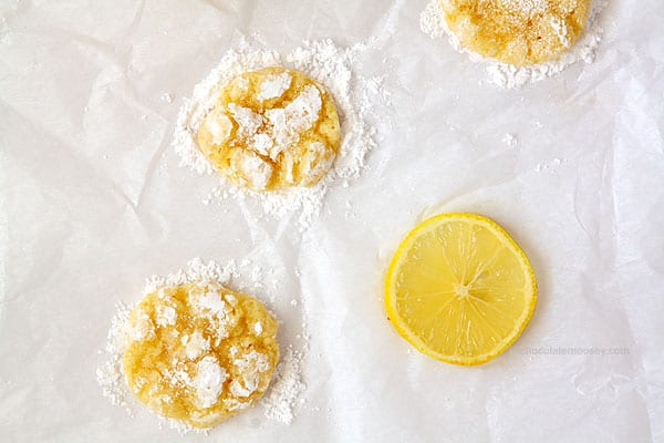 Lemon Coconut Crinkle Cookies - Chocolate Moosey