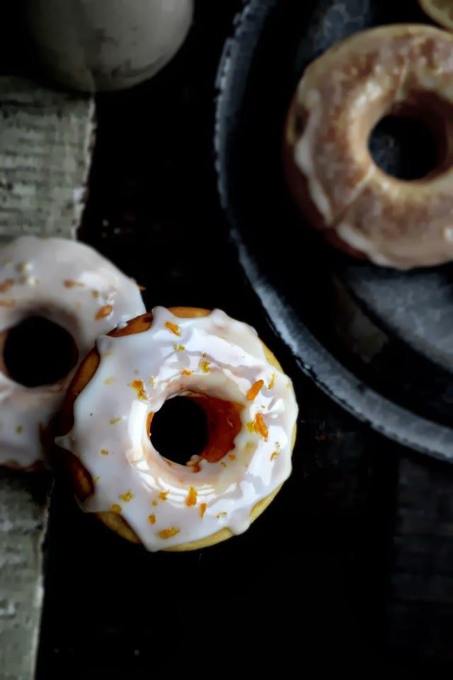 grapefruit glazed cake doughnuts - bakeaholic mama