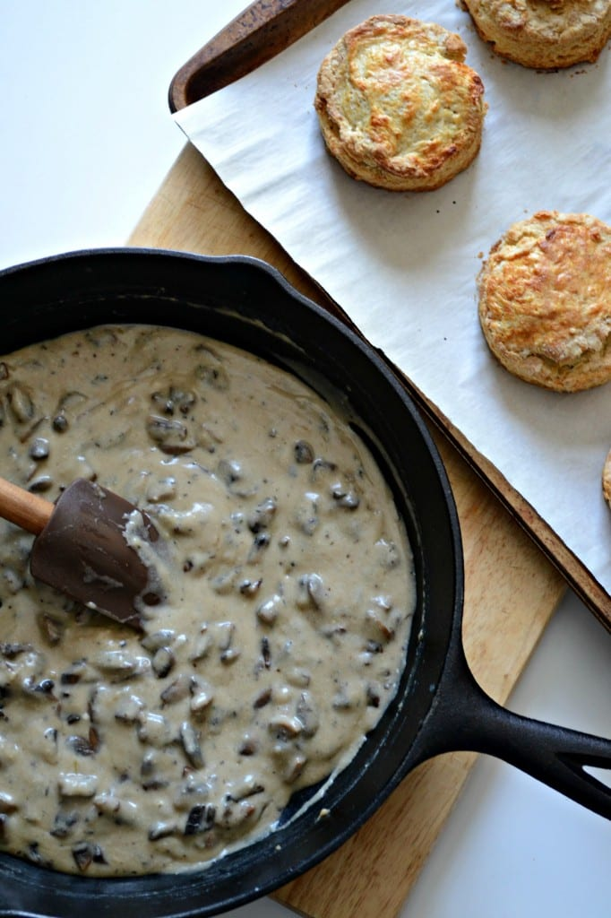 Buttermilk Biscuits and Mushroom Gravy  Sarcastic Cooking