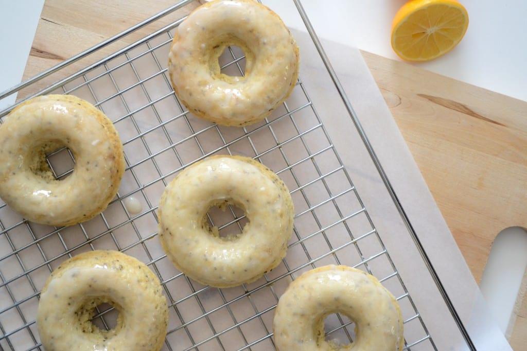 Glazed Meyer Lemon Chia Seed Doughnuts   Sarcastic Cooking