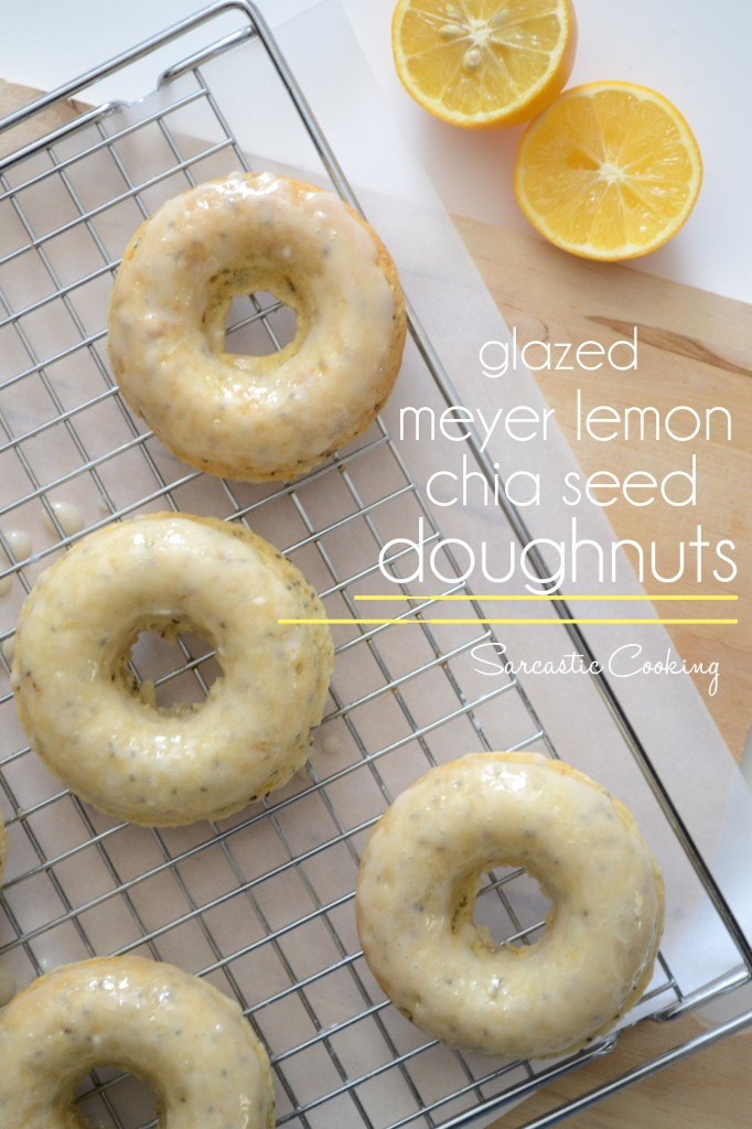 Baked Glazed Meyer Lemon Chia Seed Doughnuts | Sarcastic Cooking
