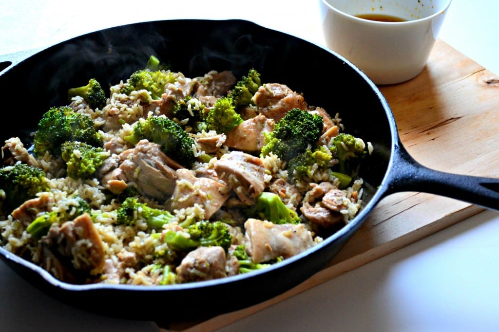 Lighter Sweet and Sour Chicken and Broccoli with Brown Rice \\ Sarcastic Cooking