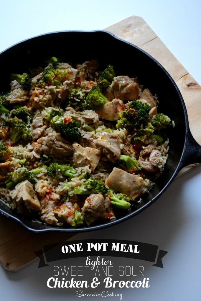 One Pot Meal: Lighter Sweet and Sour Chicken and Broccoli \\ Sarcastic Cooking