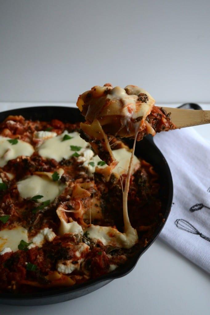 Spinach Skillet Lasagna | Sarcastic Cooking