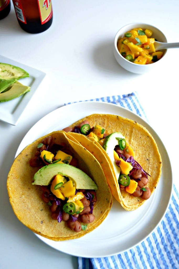 Beer Braised Sweet and Spicy Pinto Bean Tacos \ Sarcastic Cooking