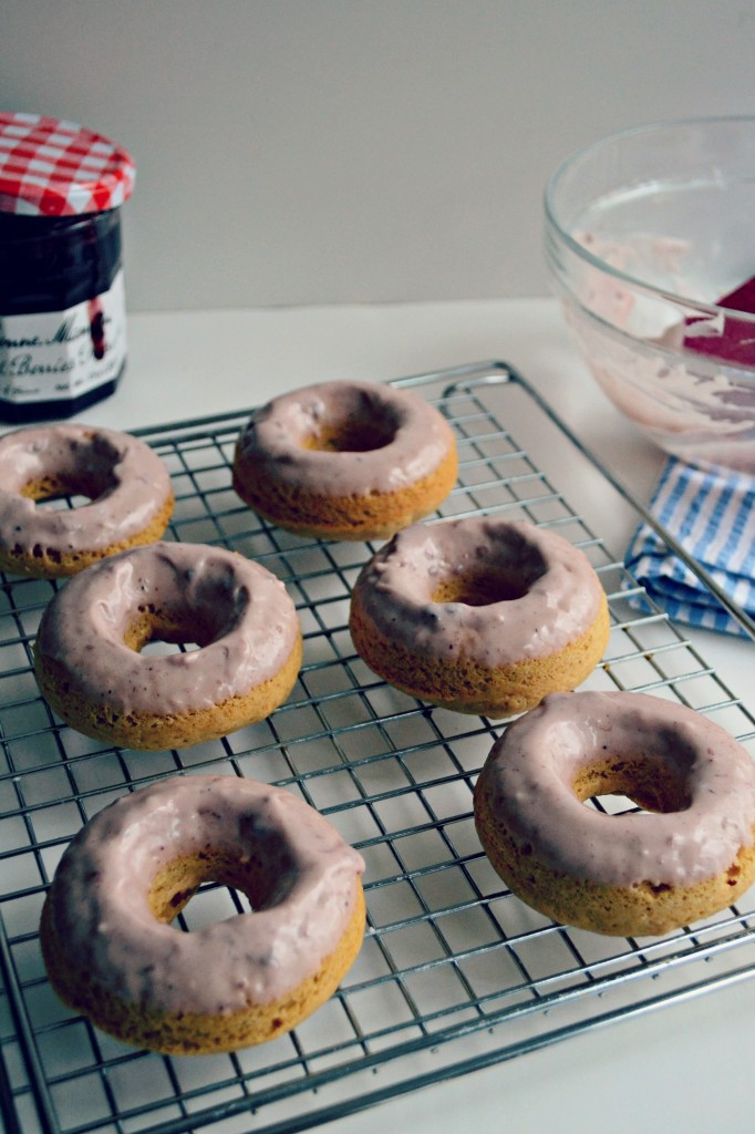 Brown Butter Peanut Butter Baked Doughnuts