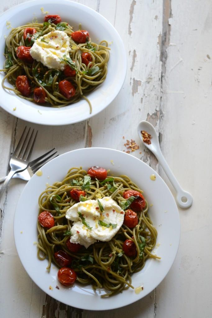 Blistered Tomato and Ricotta Spaghetti \\ Sarcastic Cooking