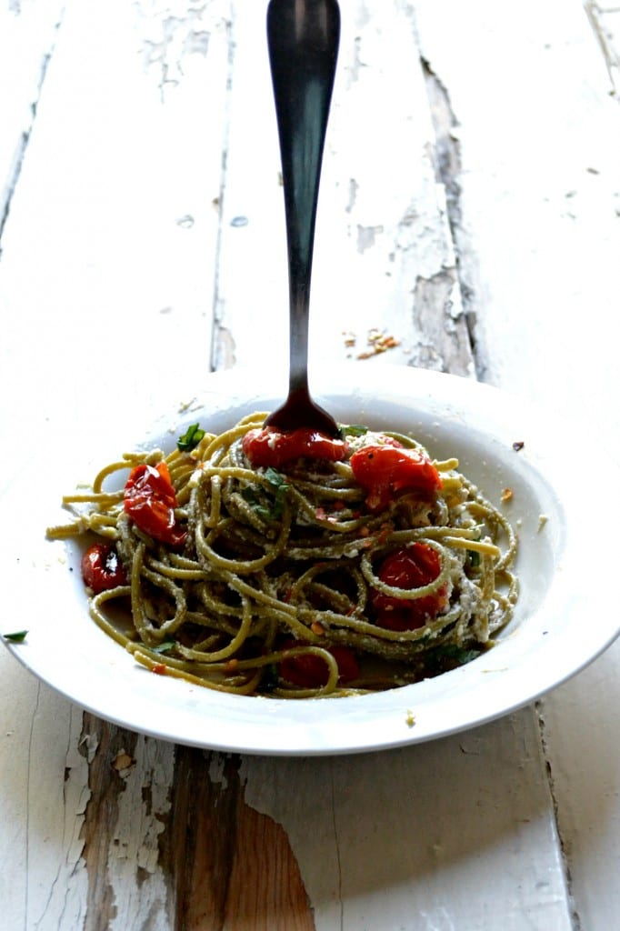 Blistered Tomato and Ricotta Spaghetti \\ Sarcastic Cooking